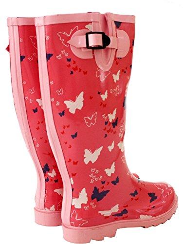 Wellies Donna Unisex A Da pink Ragazza' Bambini Per Footwearfestival Butterfly Lavoro Wellingtons amp;h q00ZUF