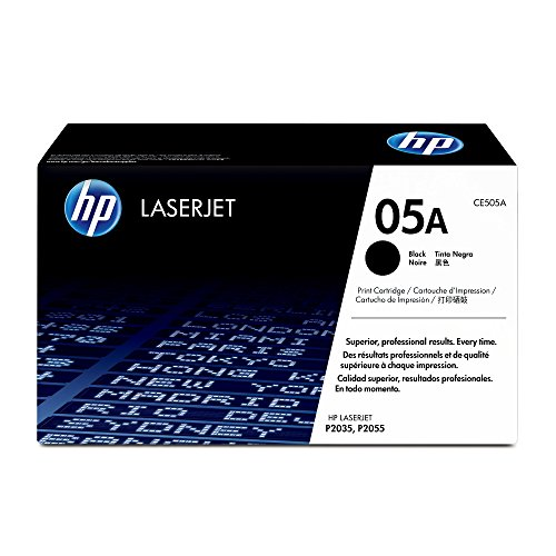 (HP 05A (CE505A) Black Original Toner Cartridge for HP LaserJet P2055 P2055d P2055dn P2055x)