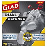 Glad ForceFlex Dual Defense Large Drawstring Trash Bags (33 gal., 70 ct.)