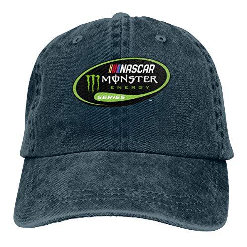 FXNOW Nascar Monster Logo Energy Series Mens Hat Baseball Caps Cowboy Hat Navy]()