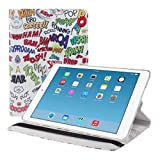 kwmobile? 360??Epremium LEATHER CASE Comic design for Apple iPad Air with practical stand by KW-Commerce
