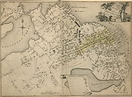 Compact State Map.Amazon Com 1813 Map Of The Compact Part Of The Town Of Portsmouth