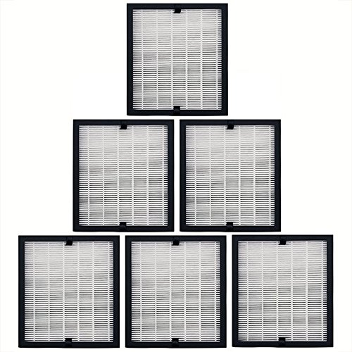 6 Replacement 3 in 1 Filter Packs for Solair 3500 Elite Air Purifiers