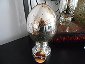 LUXURY HOME CREATIONS MERCURY GLASS EASTER EGG ON A STAND BRAND NEW (SILVER)
