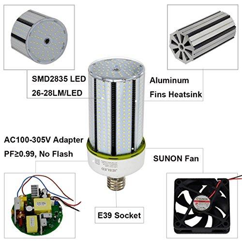 JESLED 150W LED Corn Light Bulb, Large Mogul E39 Base, 20250 Lumens, 5000K Daylight, Replacement for 1000W Equivalent Metal Halide Bulb, HID, CFL, HPS by JESLED (Image #5)