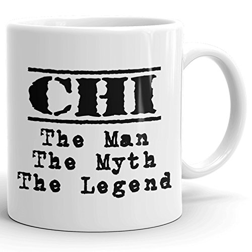 Best Personalized Mens Gift! The Man the Myth the Legend - Coffee Mug Cup for Dad Boyfriend Husband Grandpa Brother in the Morning or the Office - C Set 3