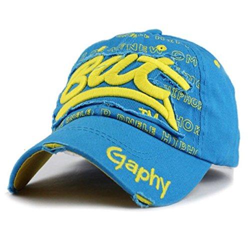 NOVADAB Men s Summer Style Snapback Baseball Cap Leisure Hiphop Hat  (Blue Yellow 0548195ed0c8