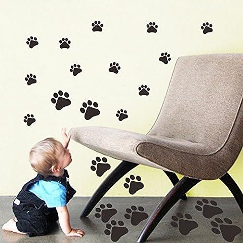 AA Walking Paw Prints Wall Decal Home Art Decor Dog Cat Food Dish Room Sticker (Cherub Mask)