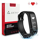 Waterproof Fitness Tracker with Real-time Heart Rate Monitor [2018 UPGRADED] Activity Tracker