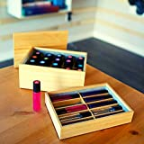 Essential Oil Wooden Storage Box Organizer Case