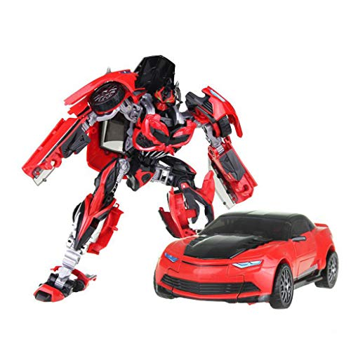 Siyushop Car Robot ModelDeformed Car Children's Toy, Heroes Rescue BotsBot Action Figure - The for Children red