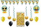 Emoji Party Pack~ Decoration Kit, Balloons, Tablecover by Emojibyspursgrl