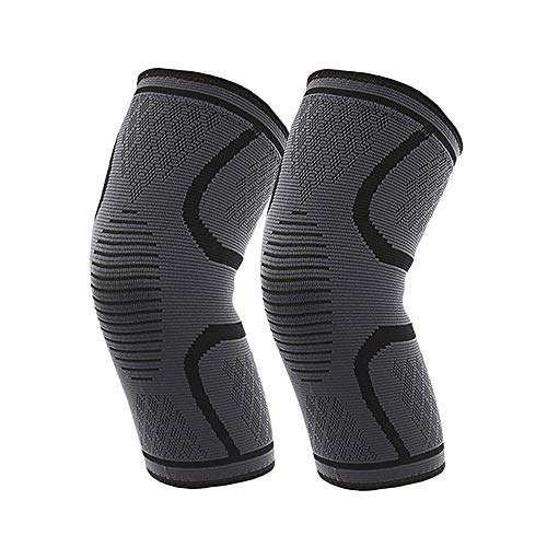 ADiPROD Knee Brace Compression Sleeves, 1 Pair Support Pads for Arthritis, ACL, Running, Pain Relief, Injury Recovery, Basketball, Meniscus Tear and More, 3 Sizes (Black, Large)