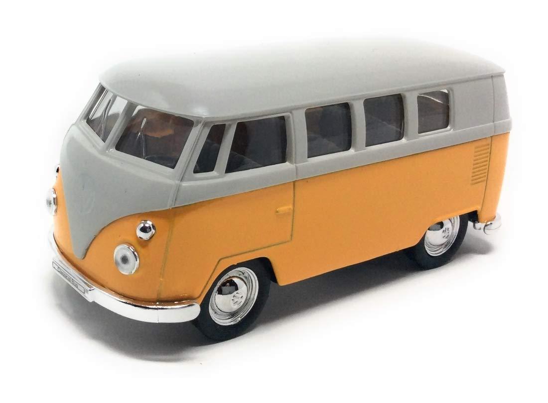 beige Modellauto mit R/ückziehmotor 12 cm Bus T1 Bulli 1963 gelb CBK-MS