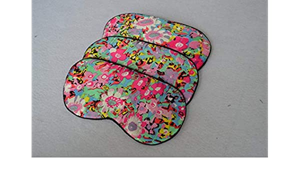 8a7c1427e Amazon.com  100% Silk Sleep Eye Mask Floral Sleeping Eyewear Masks Travel  Free Shipping  Health   Personal Care