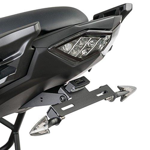 Support de Plaque + éclairage Kawasaki Versys 650 15-17 Puig noir