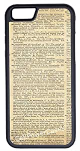 iPhone 6 Case, CellPowerCasesTM Old Dictionary Page [Flex Series] -iPhone 6 (4.7) Black Case [iPhone 6 (4.7) V1 Black]