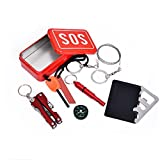 Emergency Box 6 PCs Gear Survival Mini Tools set SOS Checklist Camping Equipment Necessary Kit For Adventure, Camping, Fishing, Outdoor Activities, Emergency roadside tools etc. BBS-A71