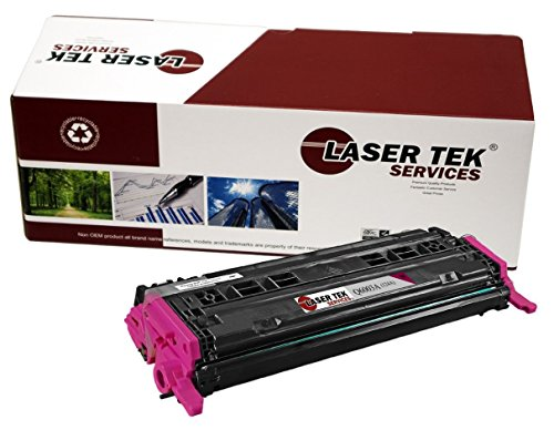 Laser Tek Services Compatible 124A Toner Cartridge Replacement for HP Q6003A (Magenta, (Q6003a Compatible Magenta Laser)