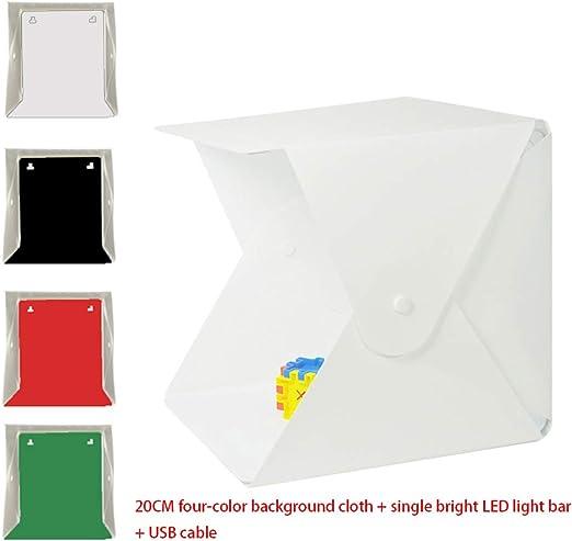Caja de luz de fotografía Plegable de 7.87 * 7.87 Pulgadas,Kit ...