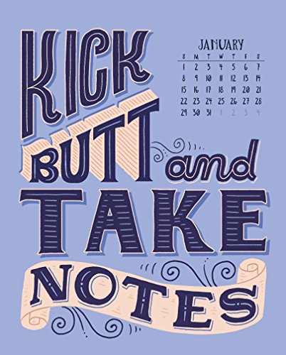 Illustrated Words of Wisdom Page-A-Month Desk Easel Calendar 2017