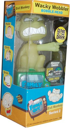 (Family Guy Glow in the Dark Evil Monkey Bobble Head Comic Con Exclusive )
