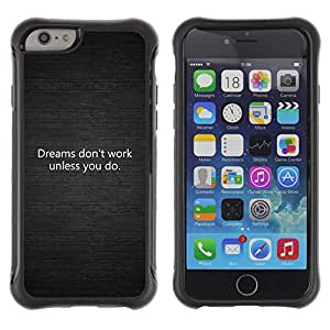 iKiki Tech / Estuche rígido - Dreams Metal Brushed Dark Message Black - Apple iPhone 6 PLUS 5.5
