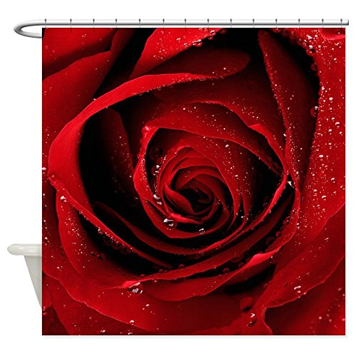 Shower Curtain Red Rose