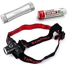 ThruNite TH10 Headlamp 825 Lumen Single CREE XP-L LED Flashlight (TH10 XP-L CW + C2 +34001)