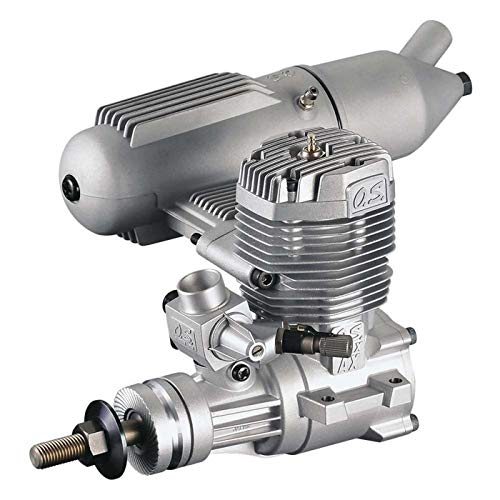 O.S. 65AX Glow-Powered Aircraft Engine with Advanced Bimetallic Liner and E-4010A Muffler