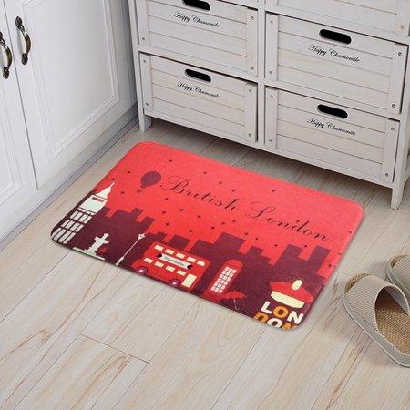 GRENSS La vendimia de Londres Inglaterra Alfombrillas Caseta de vigilancia Alfombras alfombras antideslizantes del estilo de dibujos animados Salón ...