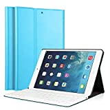 iPad Air Air 2 Keyboard Case - LUCKYDIY Ultra Slim Stand Cover+Magnetical Detachable Wireless Bluetooth Keyboard for Apple iPad Air1 Air2