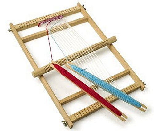 Traditional beginners wooden weaving loom set by Thorness