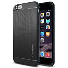 Spigen Neo Hybrid iPhone 6 Plus Case with Flexible Inner Protection and Reinforced Hard Bumper Frame for iPhone 6S Plus / iPhone 6 Plus - Metal Slate