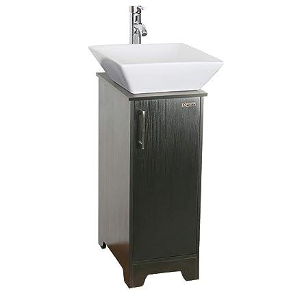 U Eway 13 Inch Black Bathroom Vanity And Sink Combo Square Ceramic