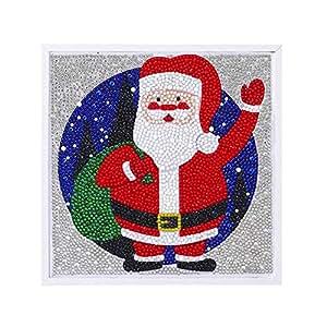 Deesee (TM) - Cuadro de diamantes enmarcado de Navidad para ...