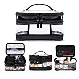 KIPBELIF Clear Makeup Bag Organizer - Multifunction Large Waterproof Portable Travel Makeup Cosmetic Bags