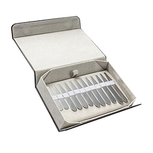12PCS Stainless Steel Collar Stays, 4 Sizes, Deluxe Edition, Men Gift by xydstay