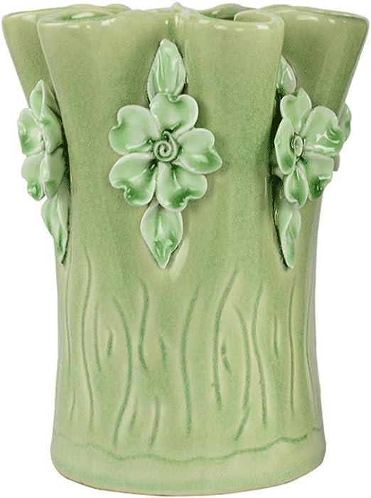 Jarrones de Ceramica Florero de cerámica Verde decoración Adornos ...