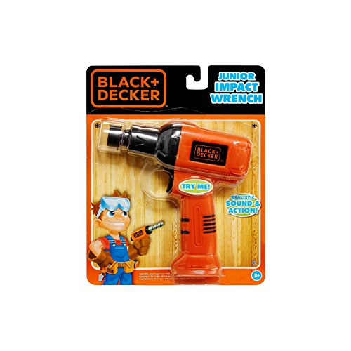 Black & Decker Jr. Electronic Tool, Junior Impact Wrench, Realistic Light Sound & Action (Black And Decker Tool Table compare prices)