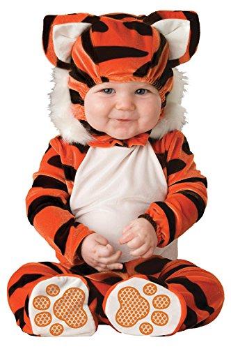 Lil Characters Unisex-baby Newborn Tiger Costume, Orange/Black/White, 6-12 months