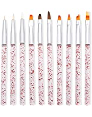 Lidiper 10 Stks Nail Art Borstel Set, Acryl Nail Painting Liner Pen Tekening Pen Nail Art Borstel Gereedschap Nail Decoratie Kit Art Design Dotting Schilderen Pen voor Nail Art Salon DIY