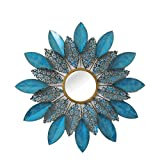 """Cheap Home Source """"Pedaled Mirror Wall Decor, 1.5″ x 30″ x 30"""", Turquoise/Gold"""
