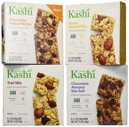 Kashi Chewy Bar Variety Pack, Mixed, 29.6 Ounce (Butter Kashi Peanut)