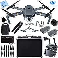 DJI Mavic Pro 4K Camera Quadcopter Drone Fly More Combo 2 More Batteries Ultra Kit