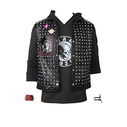 CosplayDiy Men's Sets for Watch Dogs 2 Wrench Vest&Hoodie Cosplay M -