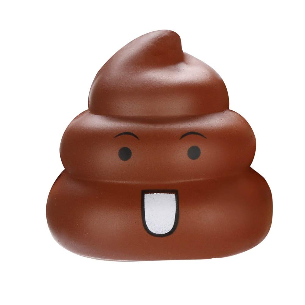 XUANOU 7cm Squishies Kawaii Emoji Poo Super Slow Rising Cream Scented Stress Relief Toy
