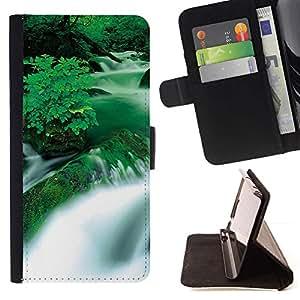 Momo Phone Case / Flip Funda de Cuero Case Cover - Cascada Negro y Blanco Puesta del sol - LG G4 Stylus H540