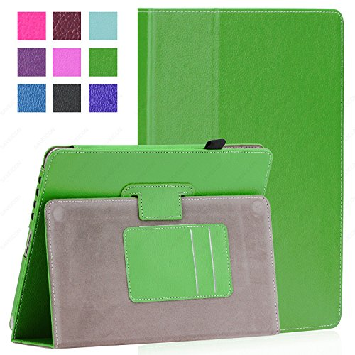SAVEICON PU Folio Leather Case Cover with Built-in Stand for Apple iPad 1 1st Generation (iPad 1, Green)