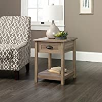Sauder County Line End Table in Salt Oak